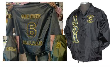 Quality Greek apparel ranging from jackets and hoodies to polos and tees are available.