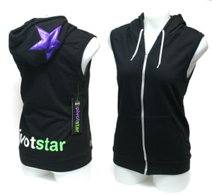 PivotStar: Orange Star XS Sleeveless Hoodie
