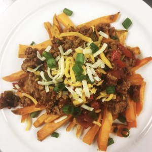 CHILI CHEESE SWEET POTATO FRIES
