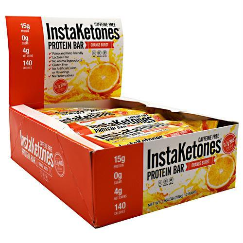 JULIAN BAKERY INSTAKETONES PROTEIN BAR ORANGE BURST - GLUTEN FREE