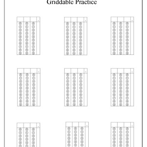 Test Preparation:Griddable Practice
