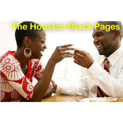 Professional black couple smiling; Professional African American couple smiling